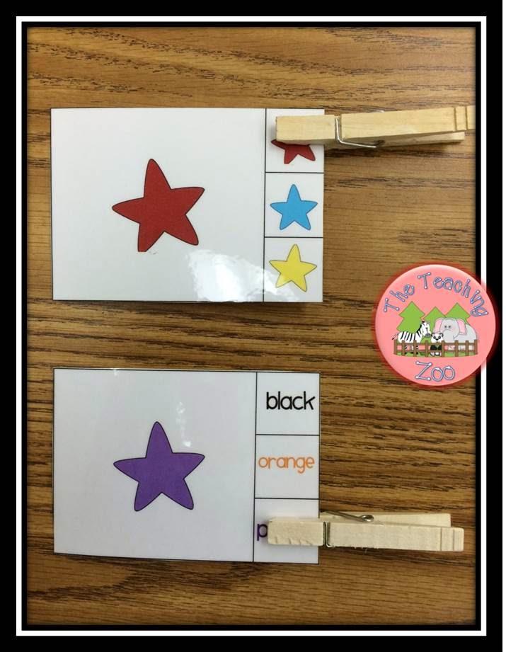 http://www.teacherspayteachers.com/Product/Color-Recognition-Clip-Learn-Task-Cards-1254234