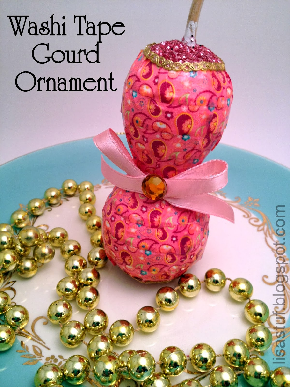 Stuff n such by lisa washi tape gourd ornament craft for Where to buy gourds for crafts