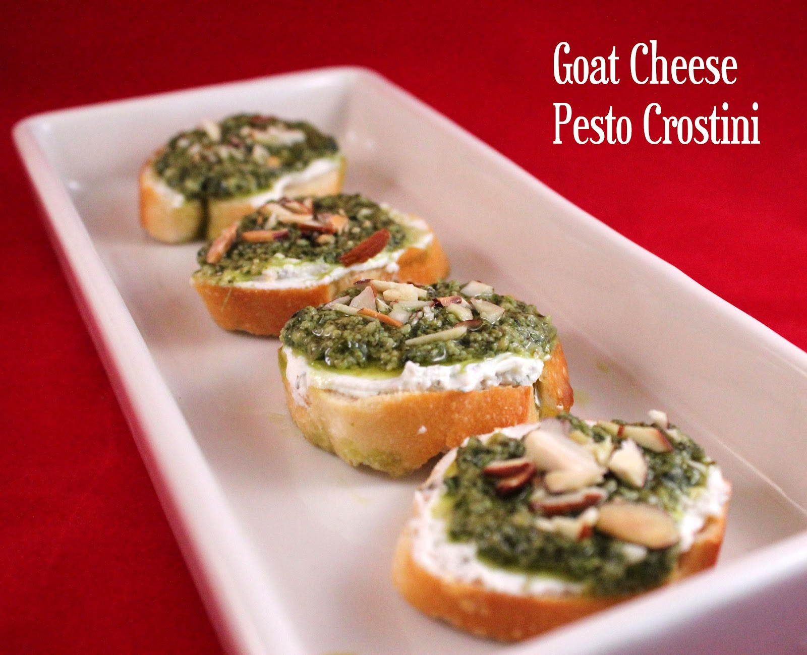 ... cheese crostini framed crostini with pesto cheese goat cheese