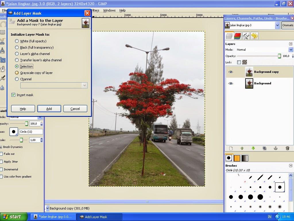 Membuat Gambar Effect Selective Color Dengan GIMP 4