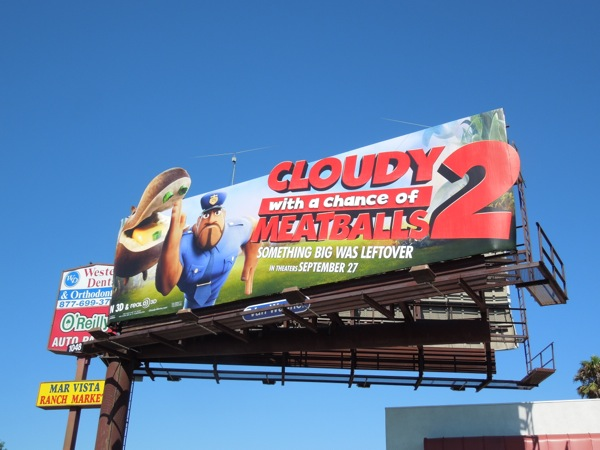 Earl Devereaux Cloudy Chance Meatballs 2 extension billboard