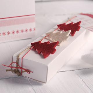 abetos fieltro self packaging navidad caja cajita