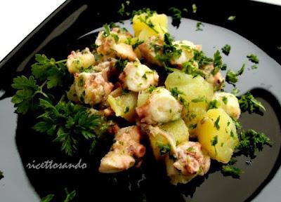 ricetta di insalata di polpo e patate antipasto