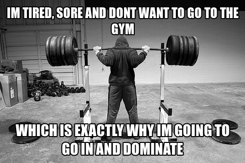 tired, sore, and don't want to go to the gym...