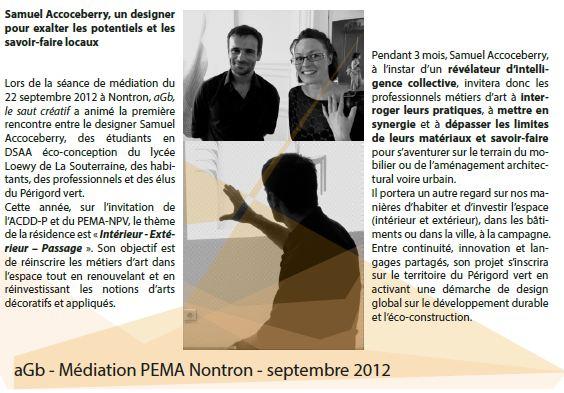 aGb: Samuel Accoceberry au PEMA-NPV