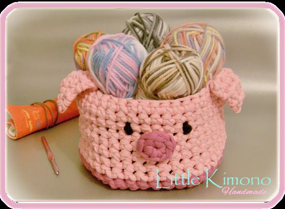 Reto handmade cesta de trapillo little kimono handmade - Manualidades hechas con trapillo ...