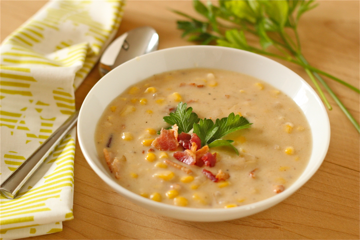 Smoky corn chowder | Yankee Kitchen Ninja