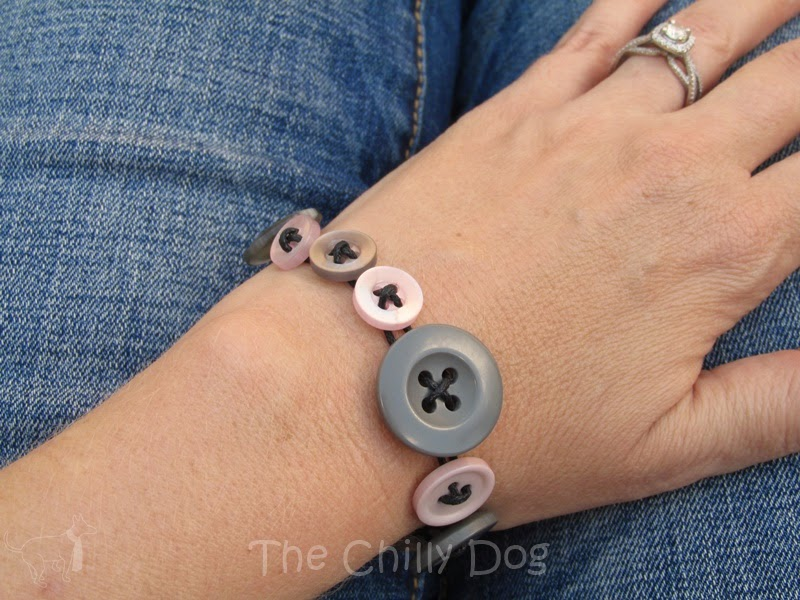Craft Tutorial: How to make a simple button bracelet