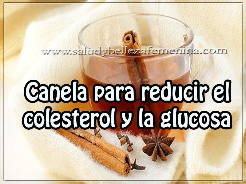 Bebidas para adelgazar , canela para reducir el colesterol y la glucosa