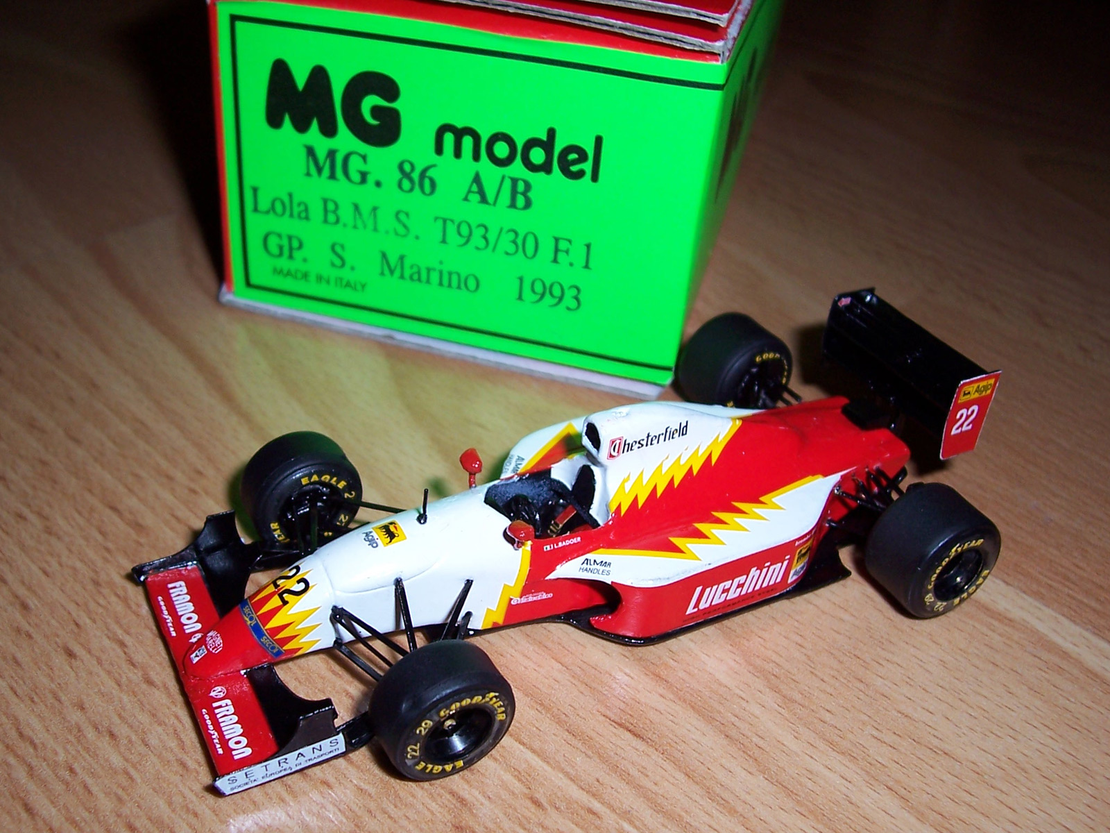 Mg model made a 1 43 scale version