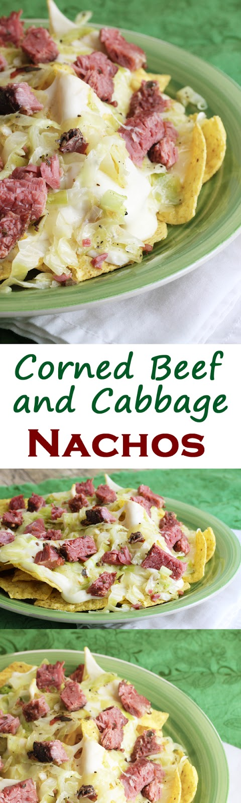 Corned Beef and Cabbage Nachos