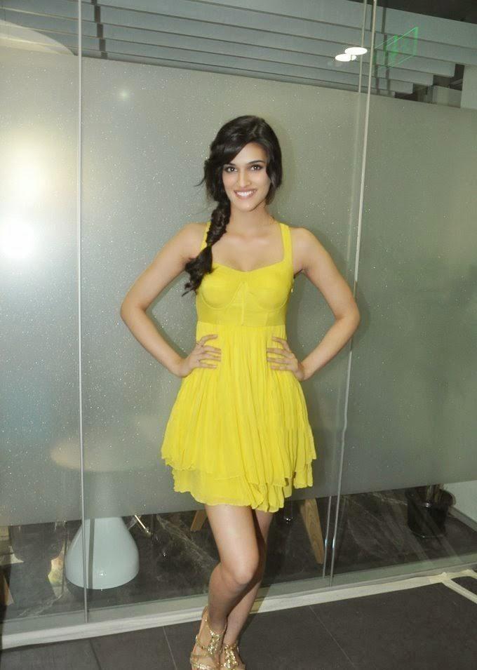 Kriti Sanon in yellow mini Skirt looks very Hot spicy pics hd real redhot pics heropanti actress