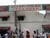 Chung wah coffee shop at Melaka