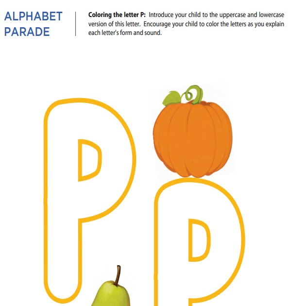 Mother Dream: Letter P alphabet worksheets