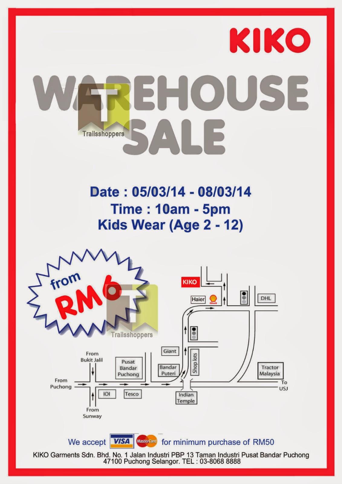 Kiko Warehouse Sale Puchong Selangor