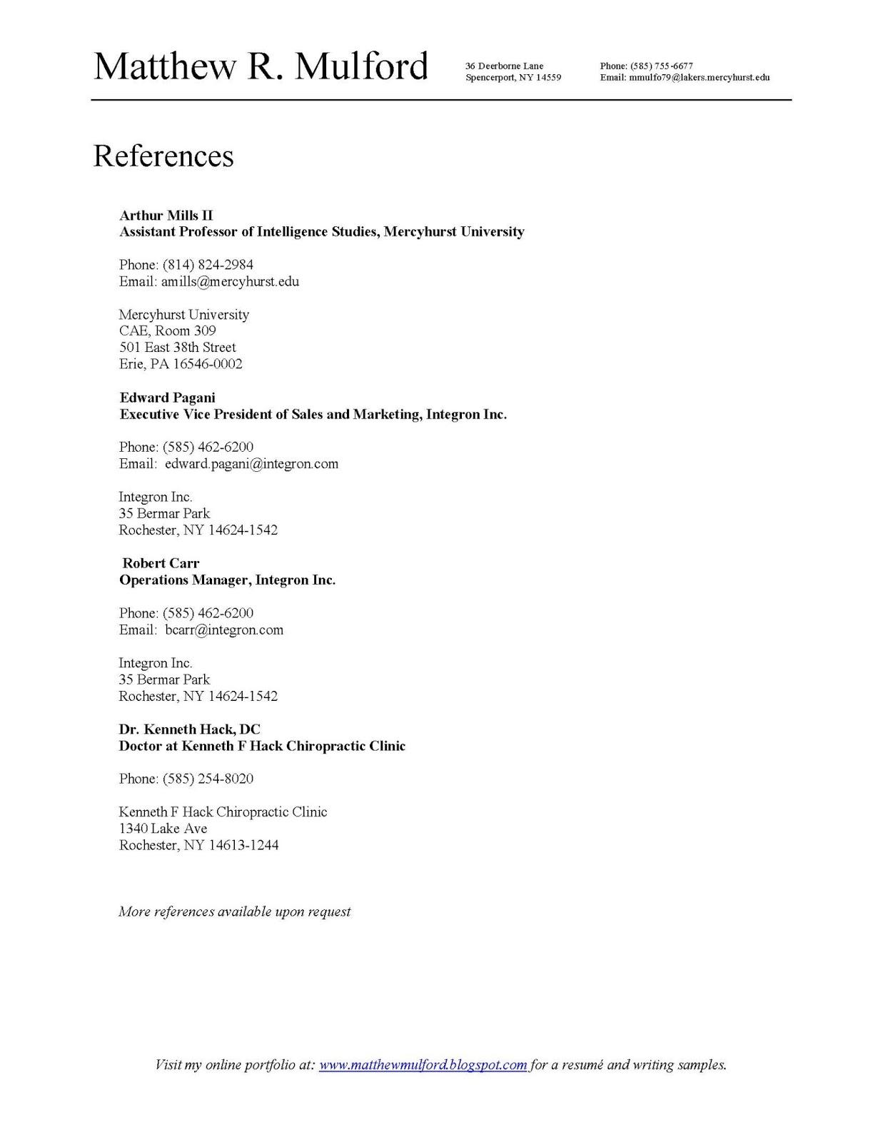 resume list Cerescoffeeco