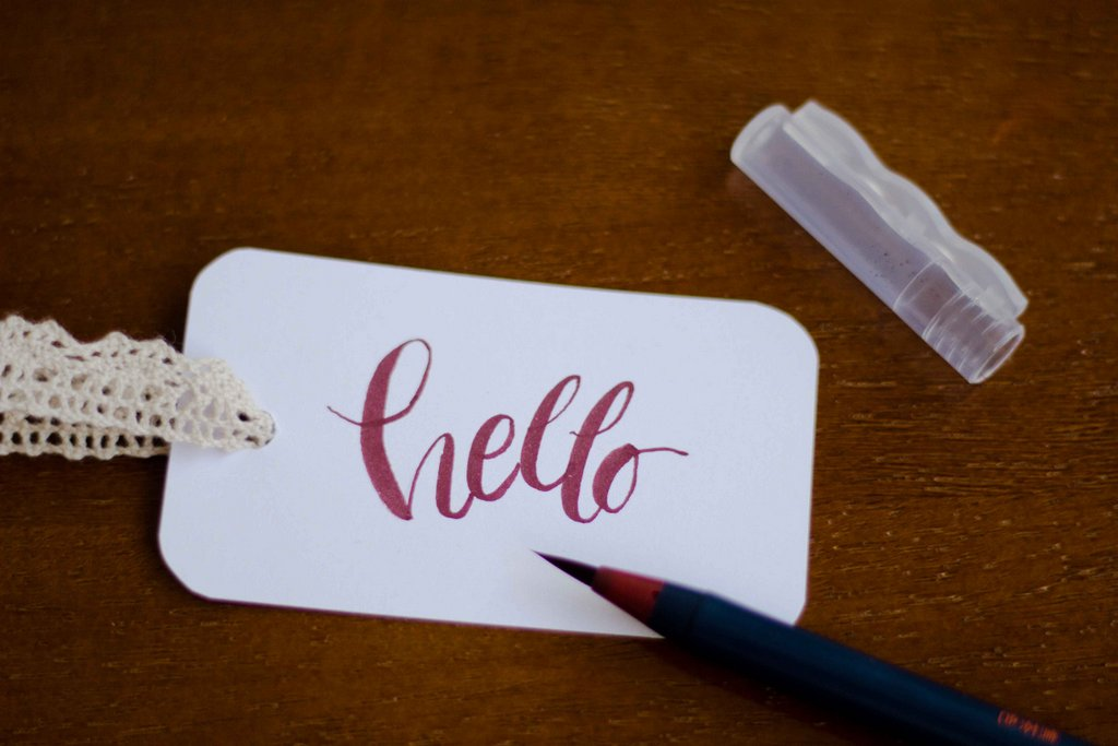 Hello modern calligraphy with callicreative duotips markers