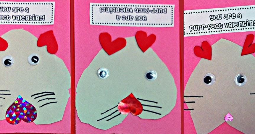 Pre K Valentines Crafts Colorbarbrick
