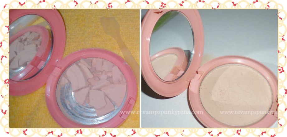 how to fix broken powder without alcohol