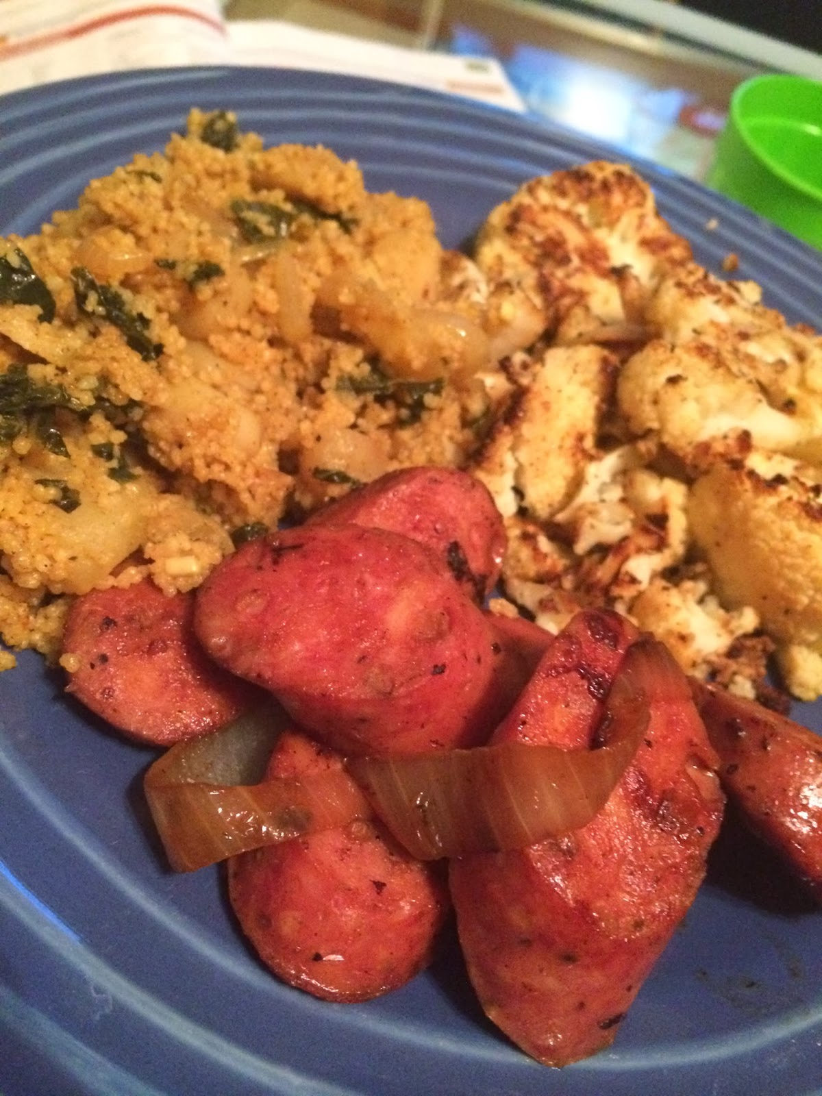 County Meanderings: Chicken Apple Sausage with Curried Apple Couscous