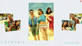 Cocktail HD High Resolution  Wallpapers - starring Saif Ali Khan, Deepika Padukone and Diana Penty