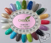 Gel Polish Cheeka Color Swatches
