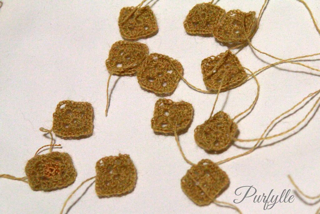 mini crochet squares