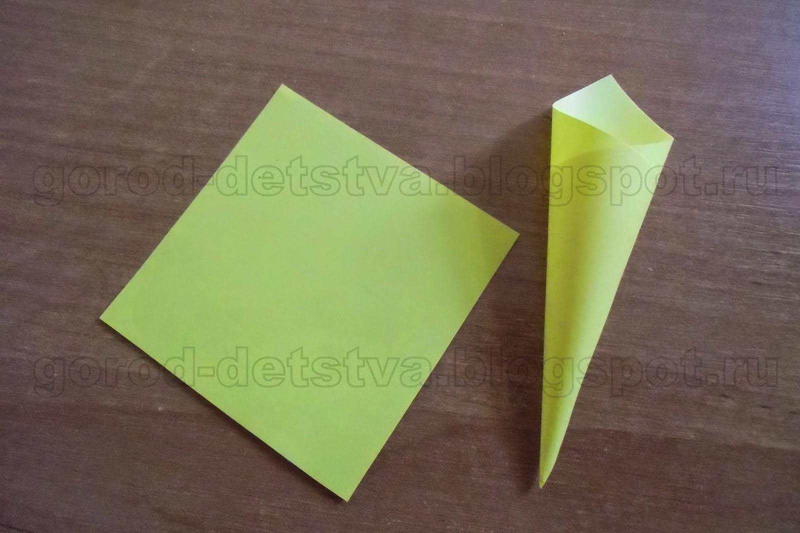 Как сделать кулек из бумаги под семечки