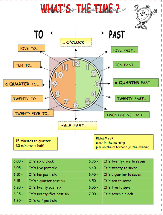 Click on the image to download the different worksheets.