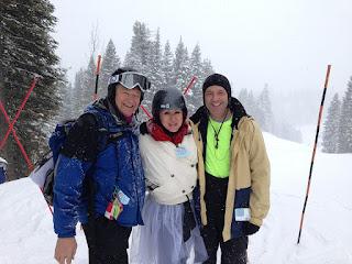 Senioren als Skifahrer
