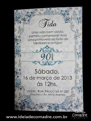 Convite para 70 anos