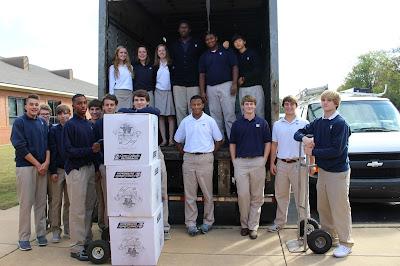 Montgomery Catholic Preparatory School Students' Collect BOXES OF JOY! 2