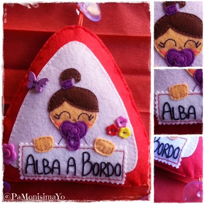 triángulo bebé a bordo Alba @pamonisimayo