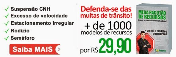 Defenda-se das Multas de Transito 1200 modelos recursos de mutas