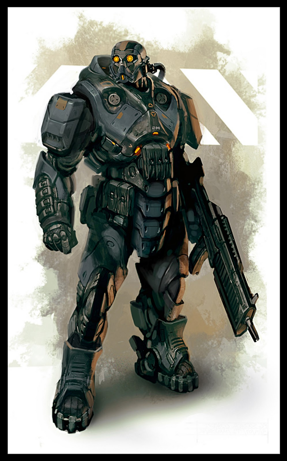 MTF Armor Design  Heavy+soldier+bio+hazard+gears+of+war+unreal+tournament+suit+daryl+mandryk+concept+soldier+armor+mech+mecha+laser+blaster+gun+cannon+warrior+space+sci+fi