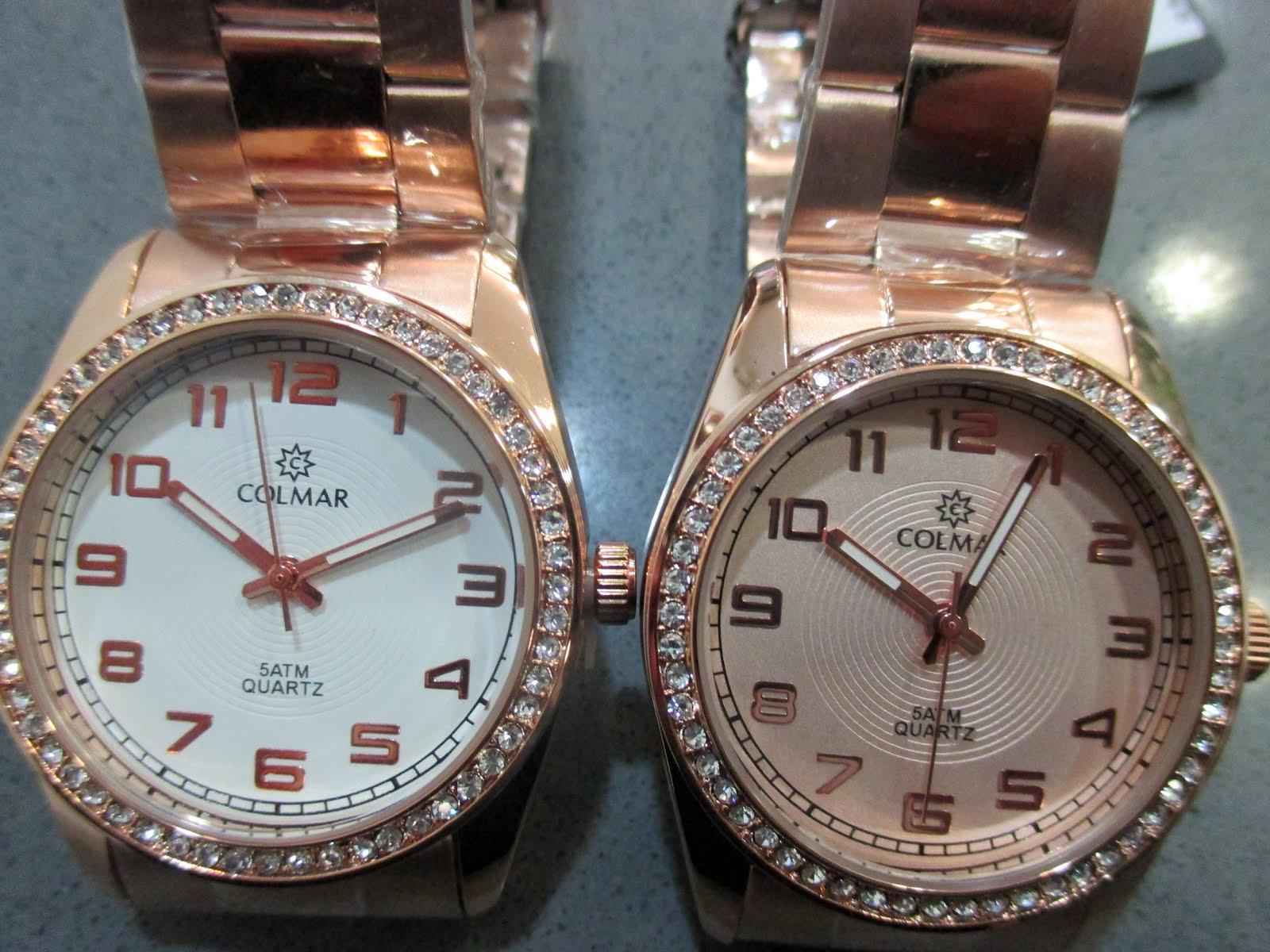 Relojes Colmar señora, acero rosa, piedras circonitas