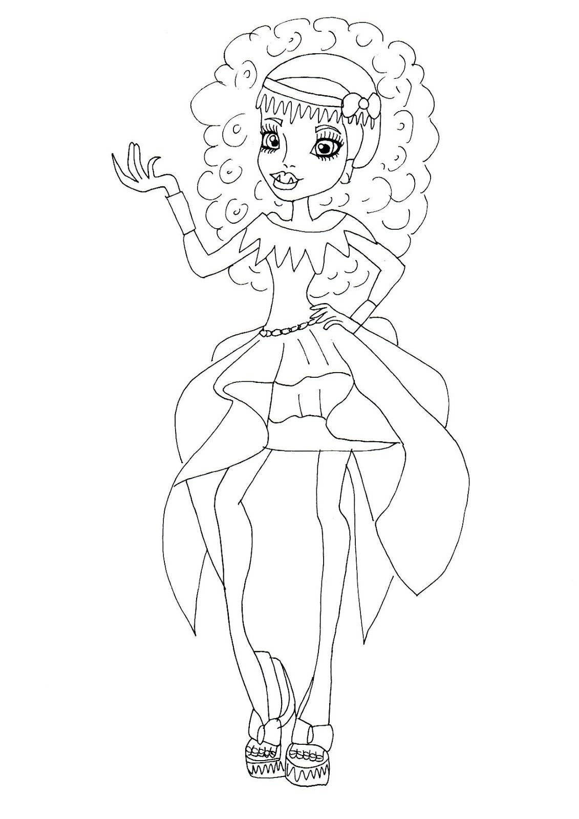 Free Printable Monster High Coloring Pages: Abbey ...