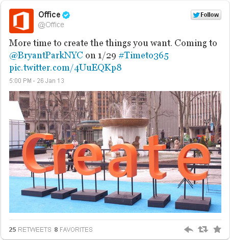 Office 2013 event
