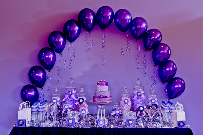 Big company the blog purple themed party by the velvet lily florist