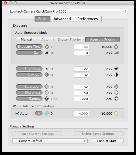 Mactaris: Logitech QuickCam Pro 5000 on Mac OS X