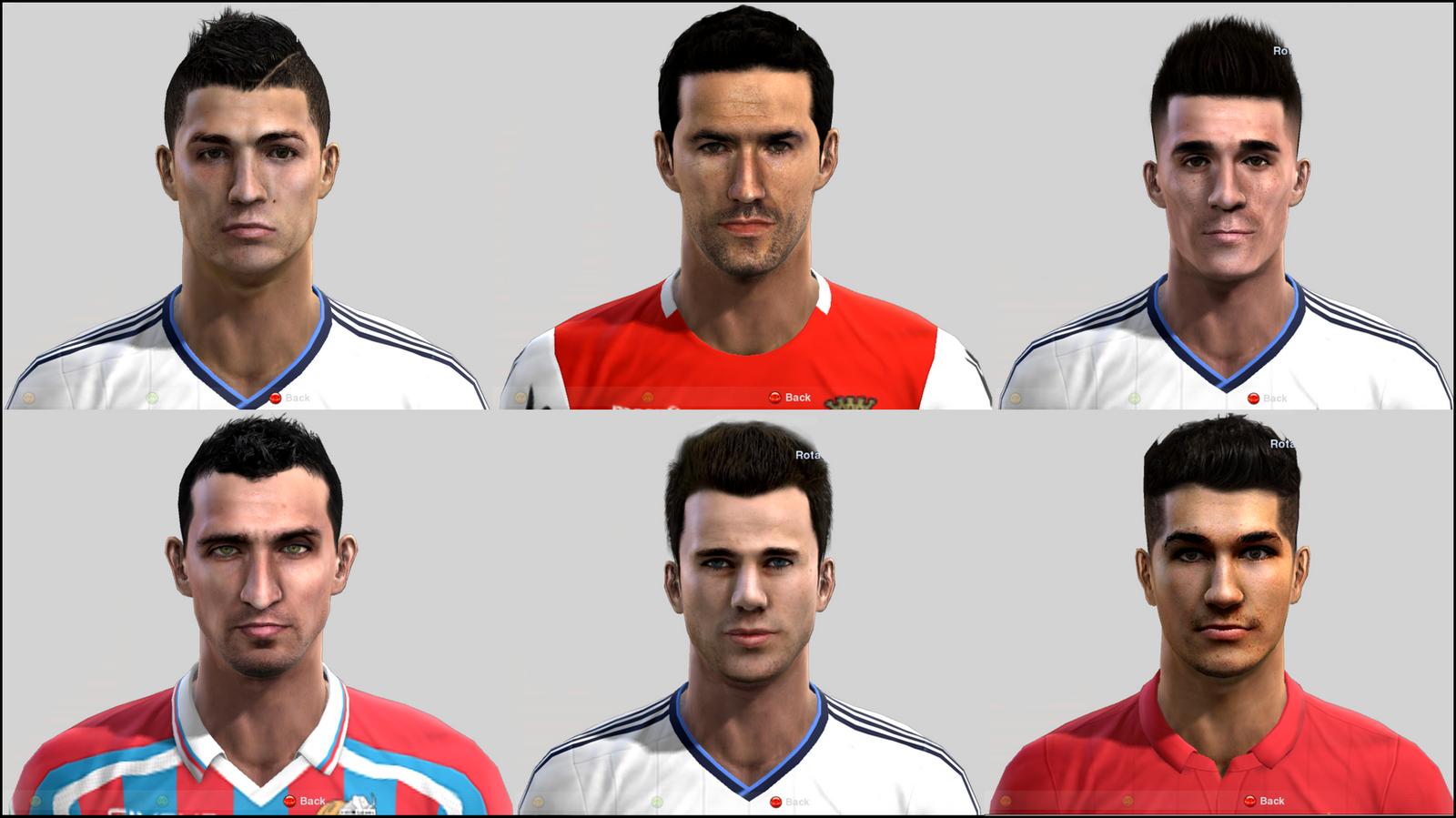 Cristiano Ronaldo, Hugo Viana, Callejón, Lodi, Nacho Fernández e Nuri Sahin Faces
