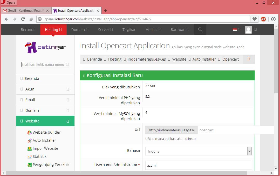 Membuat Website Toko Online Dengan CMS Opencart 8