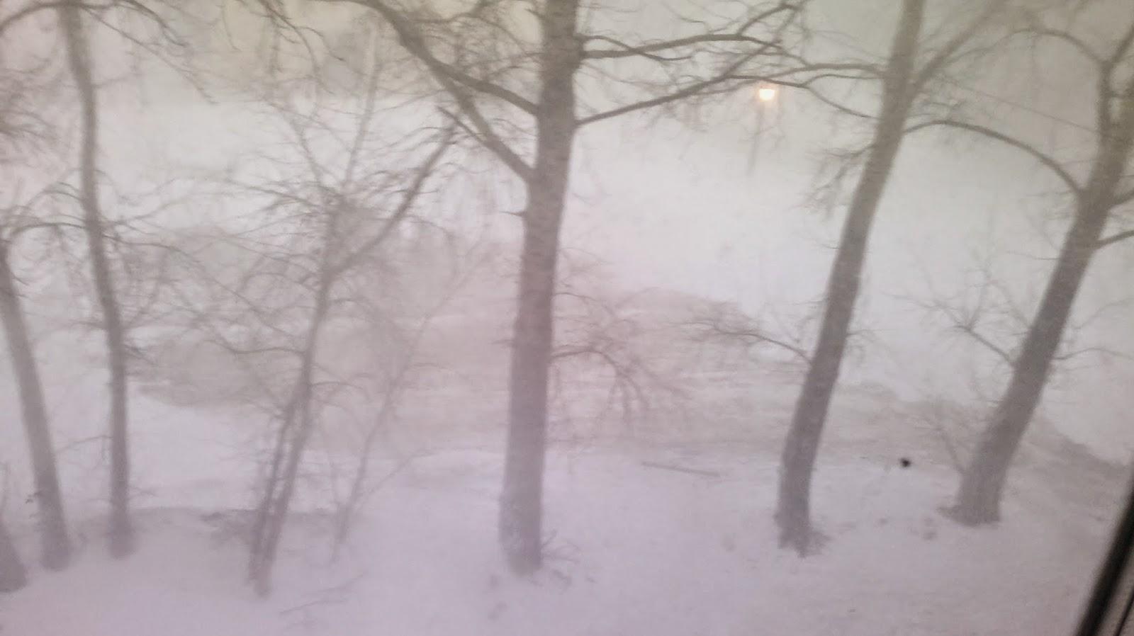 Сильный снегопад в Комсомольске на Амуре