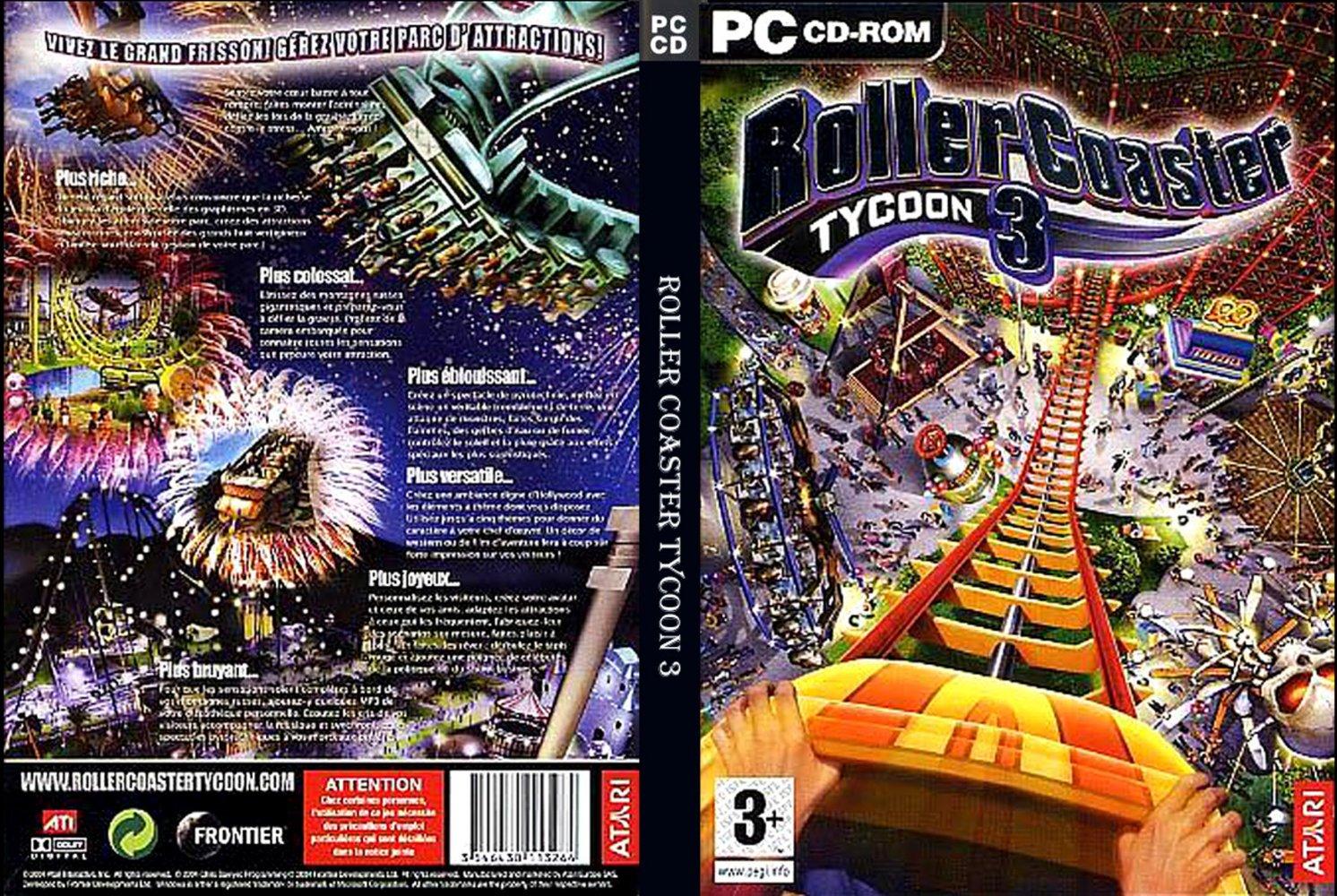 Roller Coaster Tycoon 3 Platinum PC DVD Capa