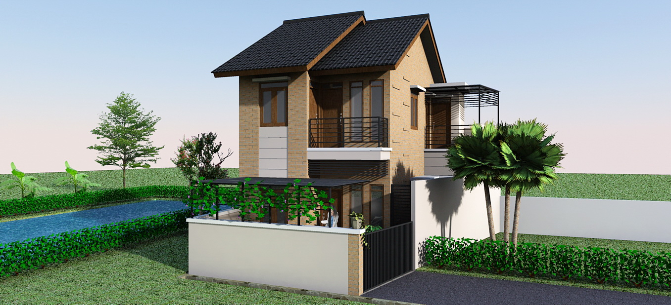 gambar rumah 2 lantai type 36 minimalis terbaru 2014