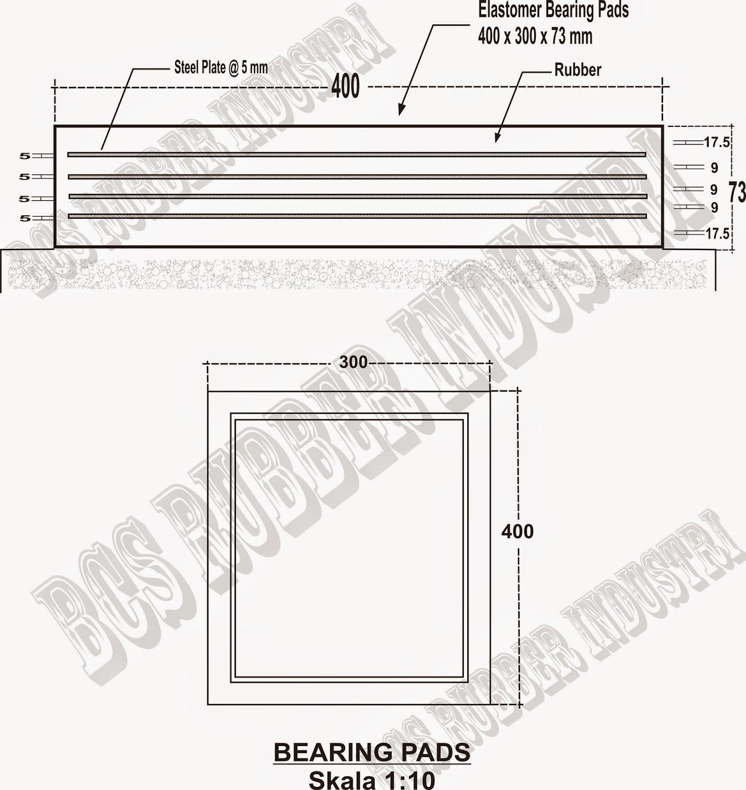 Elastomer Bearing Pads - BCS Rubber Industry,Elastomeric Bearing Pads,Bantalan Jembatan,Karet Bantalan Jembatan,