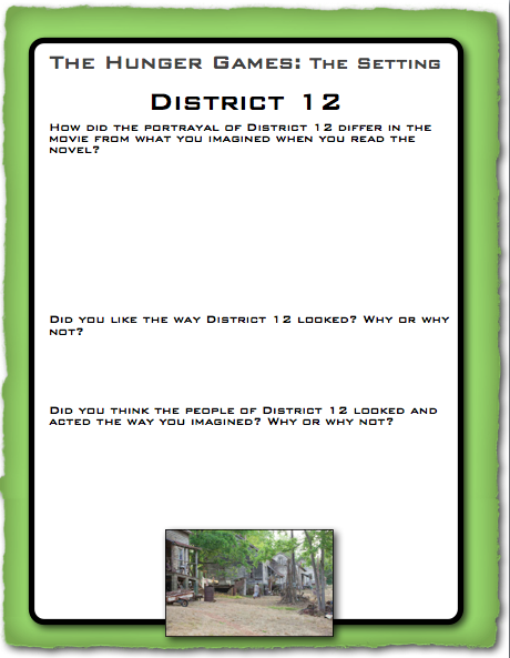 Printables Hunger Games Worksheets hunger games lessons free printables for the movie movie