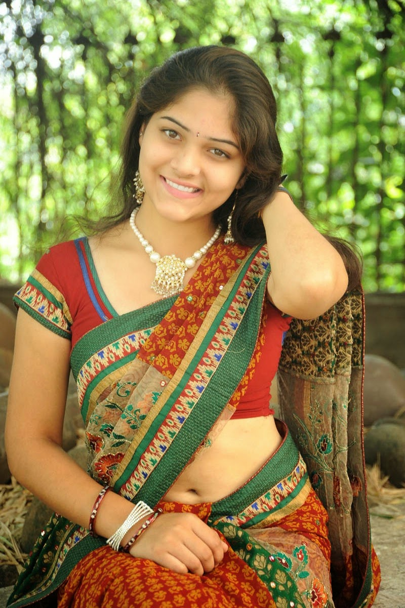 Actress Haritha Latest Cute Hot Exclusive Saree Navel Show Spicy Photos Gallery