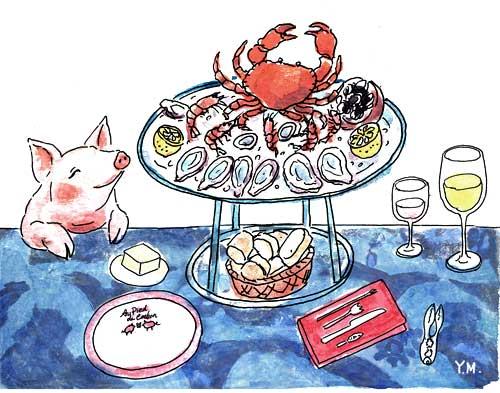 """""""Au Pied de Cochon"""" by Yukié Matsushita"""