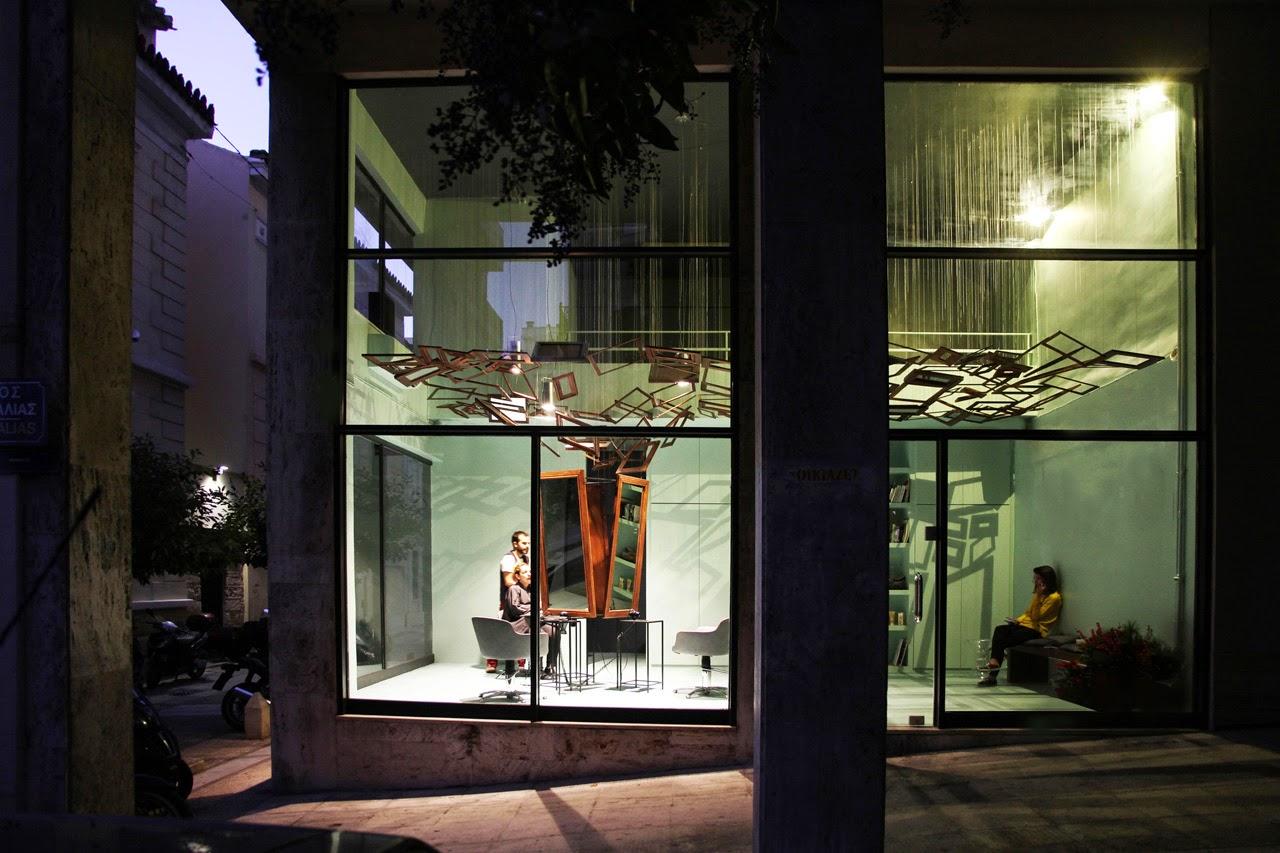 Talkin' Heads, peluquería, Atenas, Bureau de Change